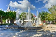 Plaza Las Delicias - Ponce, Puerto Rico. Lion Fountain in Plaza Las Delicias, the main square in Ponce, Puerto Rico Royalty Free Stock Photo