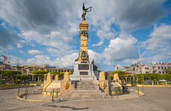 Plaza Libertad monument in El Salvador. Downtown, Central America Royalty Free Stock Photography