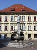 Plaza, Ljubljana, Eslovenia Fotos de archivo
