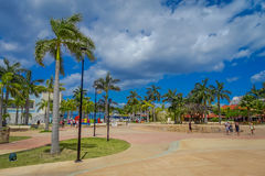 Plaza located in dowtown in the colorful Cozumel.  Royalty Free Stock Photos