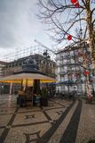Plaza Luis de Camoes sur la ville de Lisbonne Photo libre de droits