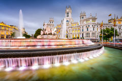 Plaza in Madrid stock photography