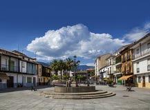 Plaza. Main plaza, Candeleda, Sierra de Gredos, Spain Royalty Free Stock Photography