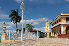Plaza Major and the bell tower Stock Image
