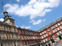 Plaza Major, Madrid. Plaza Mayor is a central plaza in the city of Madrid, Spain Royalty Free Stock Images
