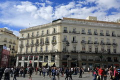 Plaza Major, The old buildings in Madrid, Spain Stock Photos