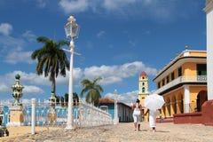 Plaza Major in Trinidad Royalty Free Stock Photo