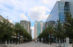 Plaza on the Mall in Downtown Orlando, Florida Stock Photo