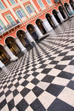 Plaza Massena. Square in the city of Nice, France stock photography