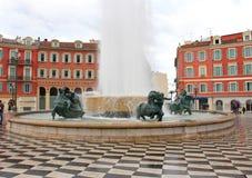 Plaza Massena en Niza, Francia Foto de archivo