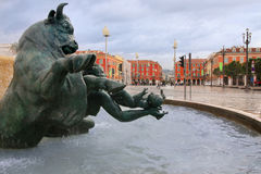 Plaza Massena Square Royalty Free Stock Photos