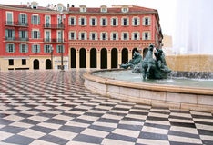 Plaza Massena Square. In the city of Nice, France stock photo