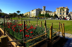 Plaza Massena Square in the city of Nice. France Royalty Free Stock Image