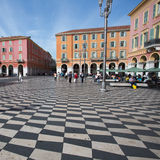 Plaza Massena Square in the city of Nice, France Stock Image