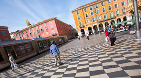 Plaza Massena Square in the city of Nice, France Royalty Free Stock Images