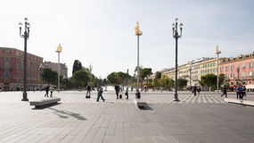 Plaza Massena Square in the city of Nice, France Royalty Free Stock Photography