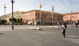 Plaza Massena Square in the city of Nice, France Royalty Free Stock Photos