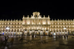 Plaza Mayor. Main square in Salamanca, Spain stock image