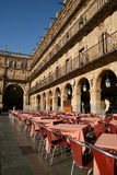 Plaza Mayor. Restaurants in the Plaza Mayor in Salamanca, Spain Stock Image