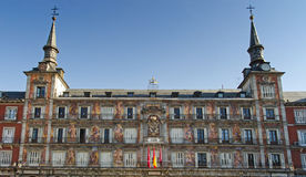 Plaza Mayor Architecture Details Royalty Free Stock Photography