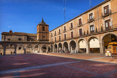 Plaza Mayor Avila Arches Cityscape Castile Spain royalty free stock images