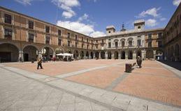 Plaza Mayor of Avila, Spain Stock Images