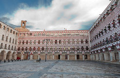 Plaza Mayor of Badajoz, Extremadura, Spain Stock Image