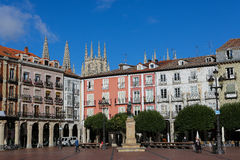 Plaza Mayor in Burgos, Spain Royalty Free Stock Images