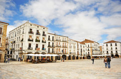 Plaza Mayor, Caceres, Extremadura, Spain. In the Main Square of Caceres (Plaza Mayor), Caceres, Extremadura, Spain Royalty Free Stock Images