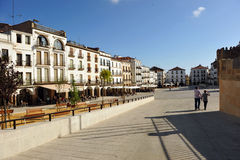 Plaza Mayor of Caceres, Extremadura, Spain Stock Photography