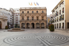 Plaza Mayor of Castellón de la Plana, building of the town hall Stock Images