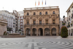 Plaza Mayor of Castellón de la Plana, building of the town hall Royalty Free Stock Photography