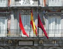 Plaza Mayor, a central square in Madrid, Spain royalty free stock photo