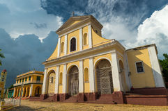 Plaza Mayor. The Church of the Holy Trinity in the Plaza Mayor area of Trinidad, Cuba royalty free stock images