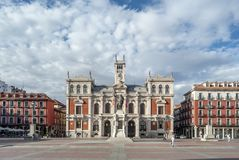 The Plaza Mayor and the city hall of Valladolid. Valladolid, Spain, October 2010: Town Hall  is located in the Main Square  of the city of Valladolid, Spain Stock Photography