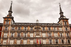 Plaza Mayor Cityscape Towers Madrid Spain Stock Images