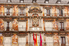 Plaza Mayor Cityscape Towers Madrid Spain Stock Photos