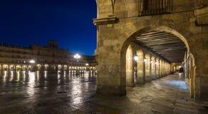 Plaza Mayor  in evening. Salamanca, Spain Royalty Free Stock Photos