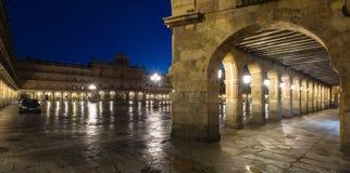 Plaza Mayor  in evening time. Salamanca Stock Photography