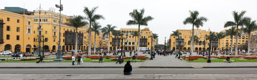 Plaza Mayor (formerly, Plaza de Armas) of Lima, Peru Royalty Free Stock Photos