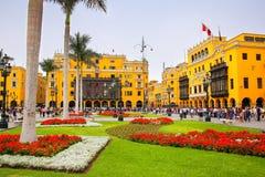Plaza Mayor in Historic Center of Lima, Peru Stock Image