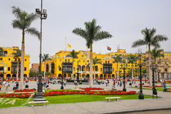 Plaza Mayor in Historic Center of Lima, Peru Royalty Free Stock Photography
