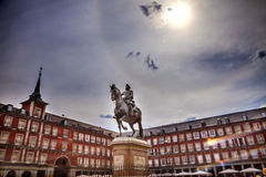 Plaza Mayor King Philip III Equestrian Statue Madrid Spain Royalty Free Stock Photography