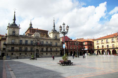 Plaza mayor leon Royalty Free Stock Photography