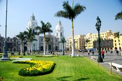 Plaza Mayor in Lima, Peru Royalty Free Stock Images