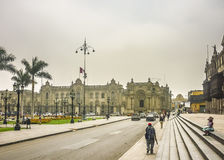 Plaza Mayor of Lima in Peru Royalty Free Stock Photography