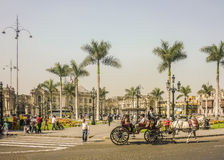 Plaza Mayor of Lima Peru Royalty Free Stock Images
