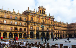 Plaza Mayor located in  center of Salamanca Stock Image