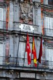Plaza Mayor, Madrid. Decorative facade on the famous Plaza Mayor in Madrid, Spain stock photos