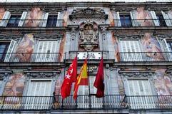 Plaza Mayor, Madrid. Ornate artwork on the facade of the famous Plaza Mayor, Madrid, Spain Stock Photos